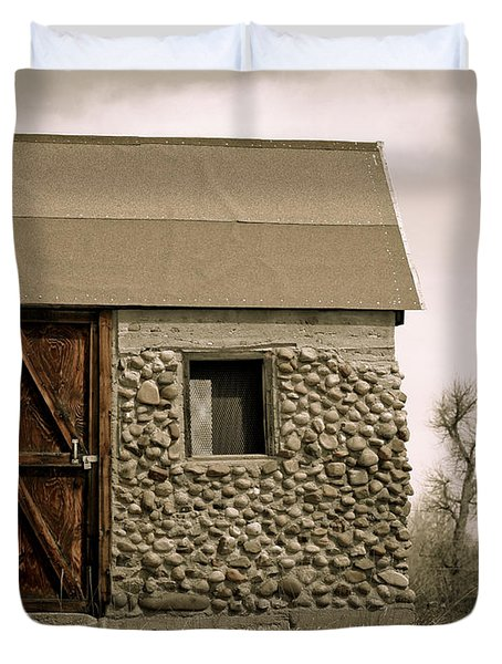 Rock Shed 2 Duvet Cover by Marilyn Hunt