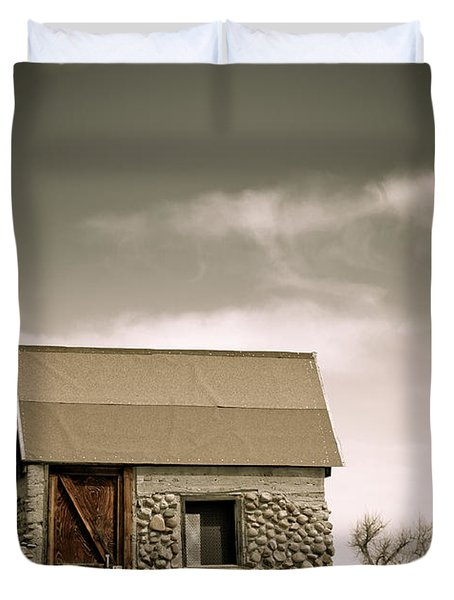 Rock Shed Duvet Cover by Marilyn Hunt
