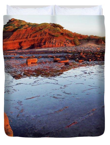 Rock Shelf At Long Reef 1 Duvet Cover