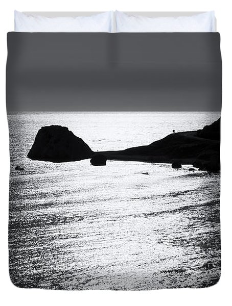 Rock Silhouette Duvet Cover by Mike Santis