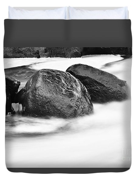 Duvet Cover featuring the photograph Rock Solid by Larry Ricker
