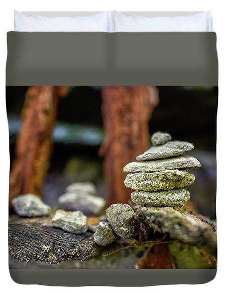 Rock Stack Duvet Cover