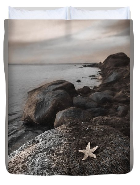 Duvet Cover featuring the photograph Rock Star by Robin-Lee Vieira