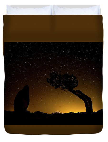 Duvet Cover featuring the photograph Rock, Tree, Friends by T Brian Jones