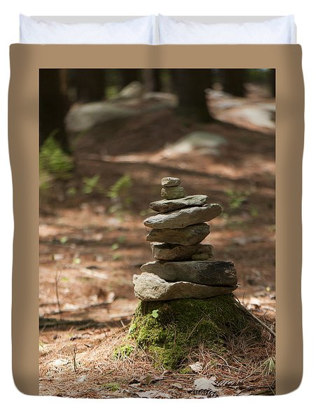 Rock Yoga Duvet Cover