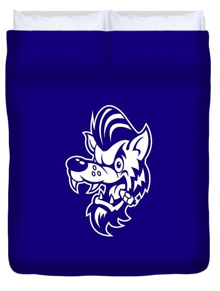 Rockabilly Wolf Head Duvet Cover
