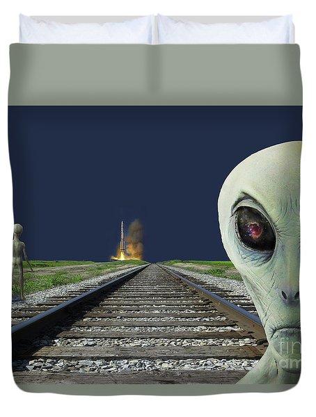 Rocket Launch Duvet Cover