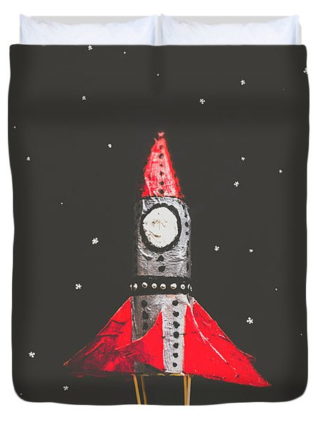 Rockets And Cartoon Puzzle Star Dust Duvet Cover