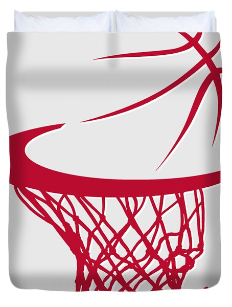 Rockets Basketball Hoop Duvet Cover