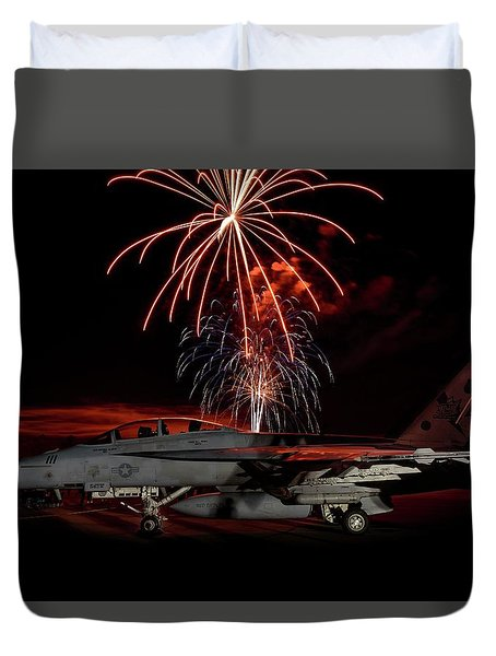 Rocket's Red Glare Duvet Cover