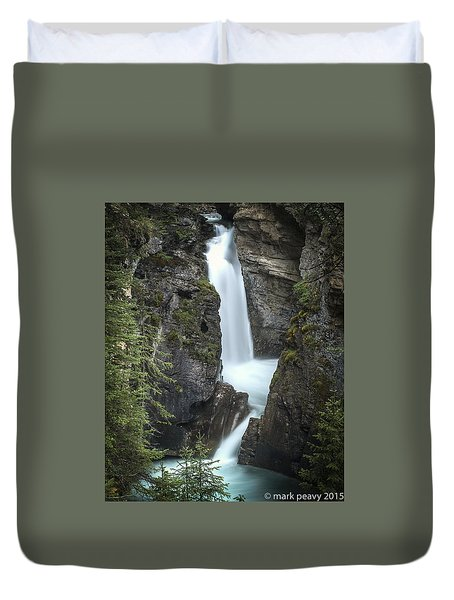 Rockies Waterfall Duvet Cover