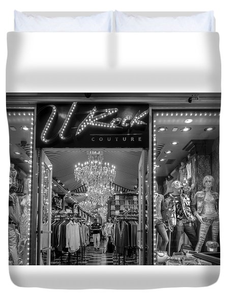 Duvet Cover featuring the photograph Rockin' Couture by Melinda Ledsome