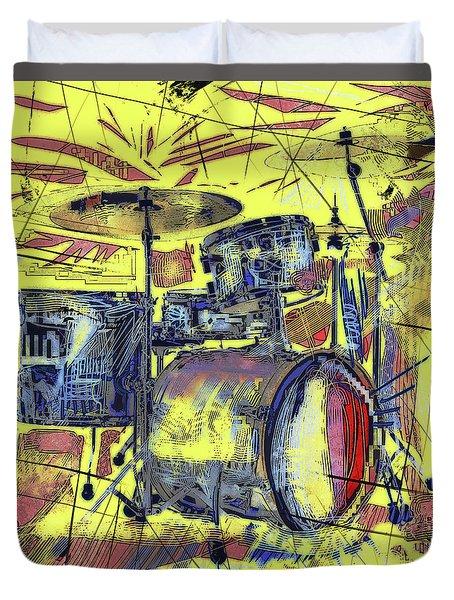 Rockin Drums Duvet Cover