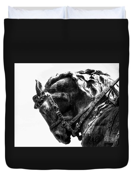Duvet Cover featuring the photograph Rocking Horse by AJ Schibig