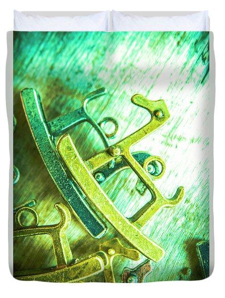 Rocking Horse Metal Toy Duvet Cover
