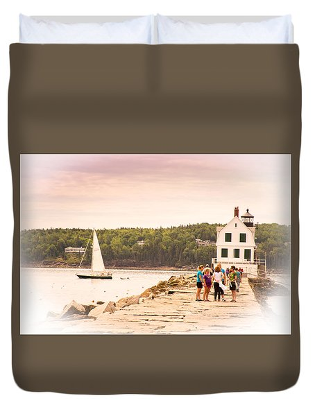 Rockland Breakwater Duvet Cover by Paul Miller