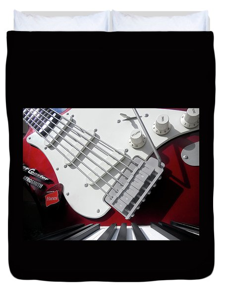 Duvet Cover featuring the photograph Rock'n Roller Coaster Aerosmith by Juergen Weiss