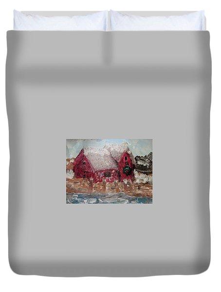 Rockport Christmas 1 Duvet Cover