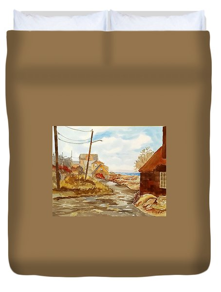 Rockport Coast Duvet Cover