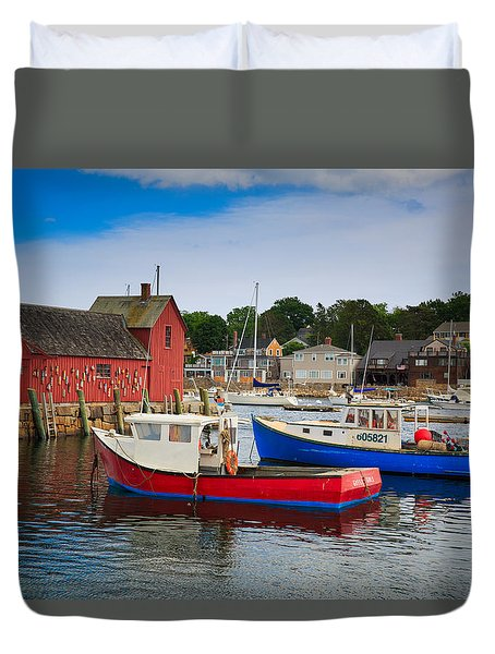 Rockport Harbor 2 Duvet Cover by Emmanuel Panagiotakis