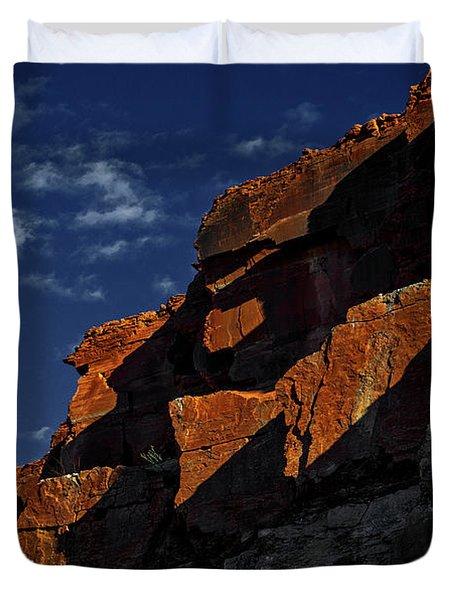 Sky And Rocks Duvet Cover