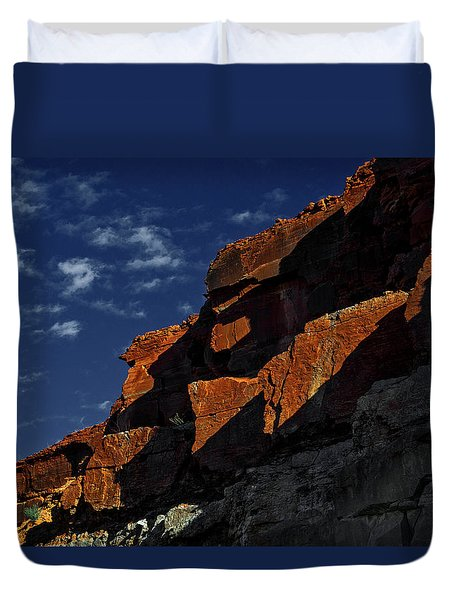 Sky And Rocks Duvet Cover by Alex Galkin