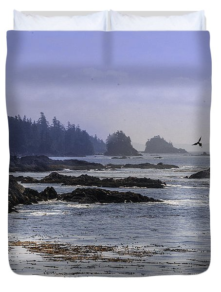 Rocks And Moon And Water Duvet Cover