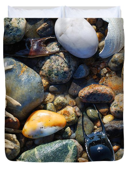 Rocks And Shells Duvet Cover by Charles Harden
