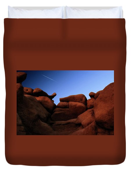Rocks And Sky At Goblin Valley  Utah Duvet Cover by Gary Warnimont