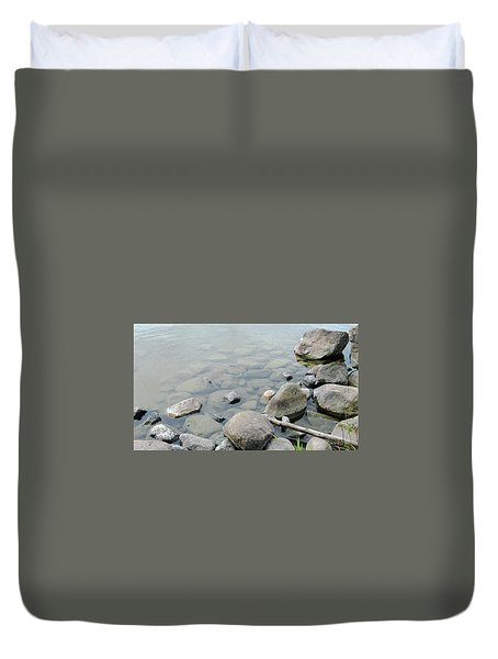 Rocks And Water Duvet Cover