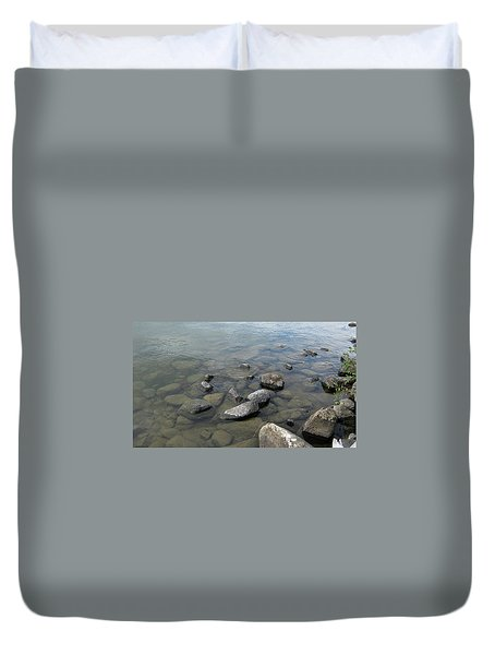 Rocks And Water Too Duvet Cover