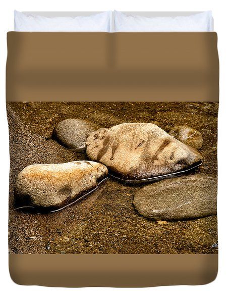 Rocks At Rest Duvet Cover by Christopher Holmes