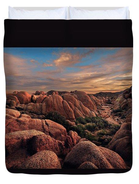 Rocks At Sunrise Duvet Cover