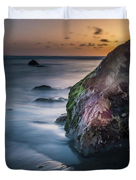 Rocks At Sunset Duvet Cover