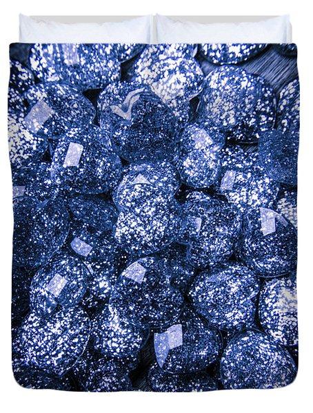 Rocks Of Blue Romance Duvet Cover