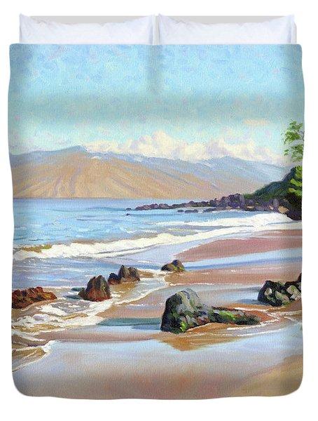 Rocks On Polo Beach Duvet Cover