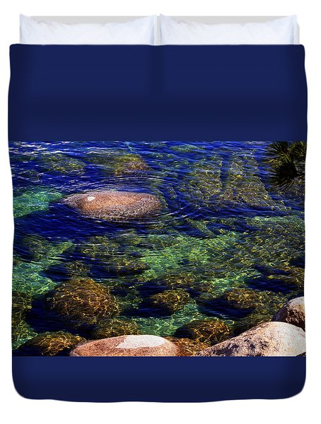 Rocks Ripples And Reflections Duvet Cover