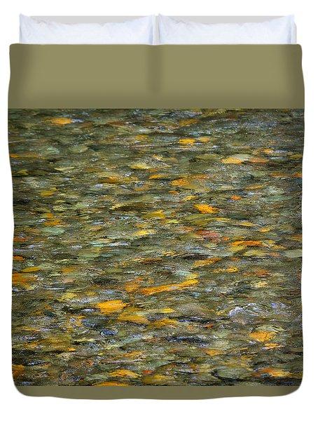Rocks Under Water Duvet Cover
