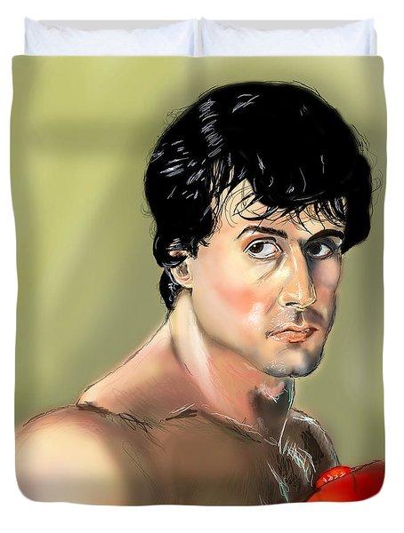 Rocky Balboa Duvet Cover by Vinny John Usuriello