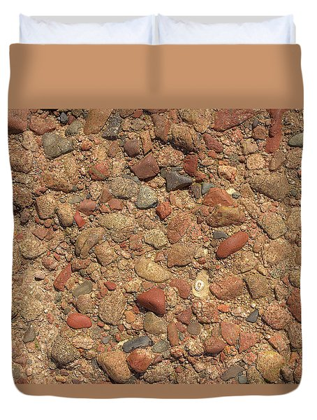Rocky Beach 4 Duvet Cover by Nicola Nobile