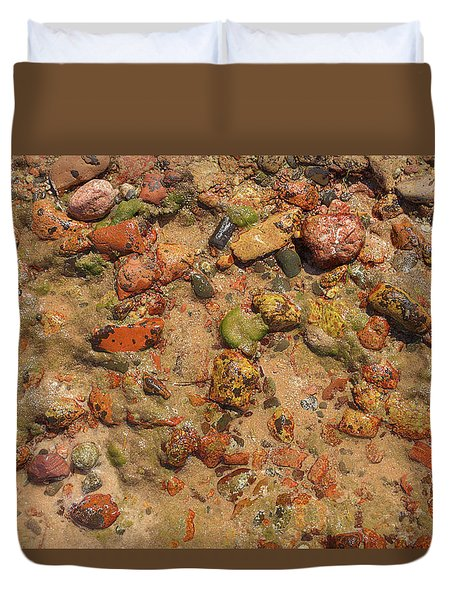 Rocky Beach 5 Duvet Cover by Nicola Nobile