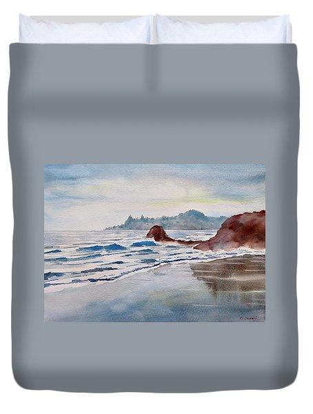 Rocky Beach Duvet Cover by Geni Gorani