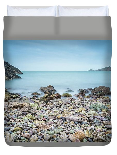 Duvet Cover featuring the photograph Rocky Beach by James Billings