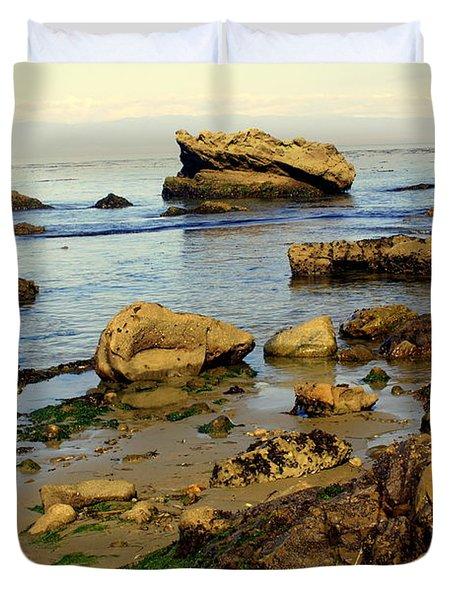 Rocky Beach Duvet Cover by Marty Koch