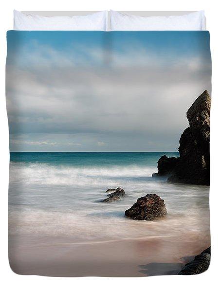 Rocky Beach On Sango Bay Duvet Cover