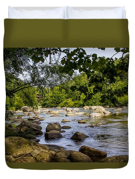 Rocky Broad River Duvet Cover