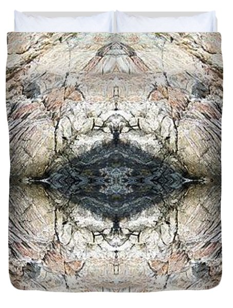 Rocky Coast Abstract Duvet Cover