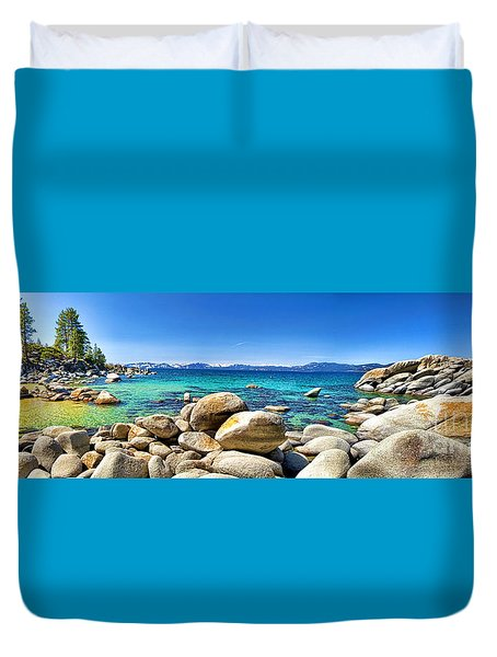 Rocky Cove Sand Harbor Duvet Cover by Jason Abando