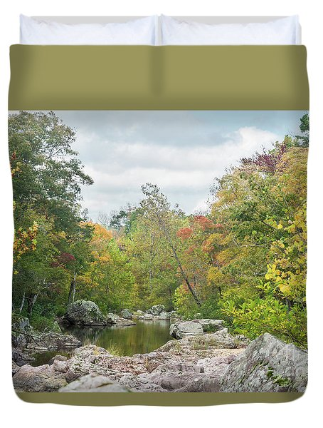 Rocky Creek Shut-ins Duvet Cover by Julie Clements