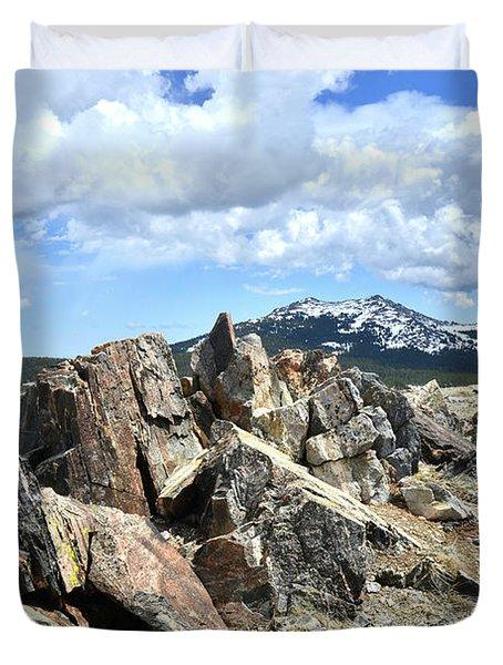Rocky Crest At Big Horn Pass Duvet Cover